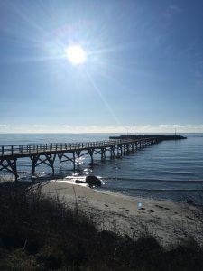 Broen i Arnager på en smuk februarmorgen