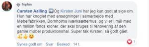 Udtalelse om Kirsten Juni